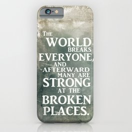 A heroic stance iPhone Case