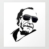 bukowski Art Prints featuring Bukowski by BRISTOL NOIR