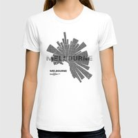 melbourne T-shirts featuring Melbourne Map by Shirt Urbanization