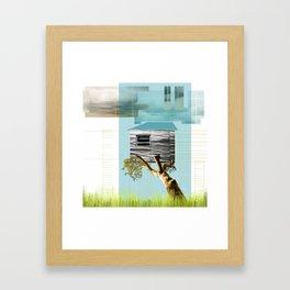 Urban Tree House Framed Art Print