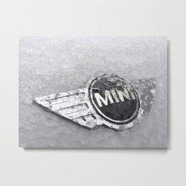 MINI Frozen Logo Metal Print
