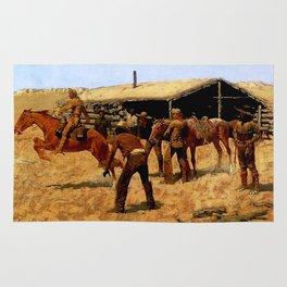 "Frederic Remington Western Art ""Pony Express"" Rug"
