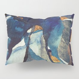 Cobalt Abstract Pillow Sham
