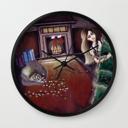 BLACK XMAS: Brighten up the Christmas lights Wall Clock