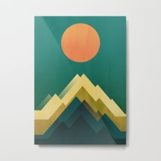 Gold Peak Metal Print