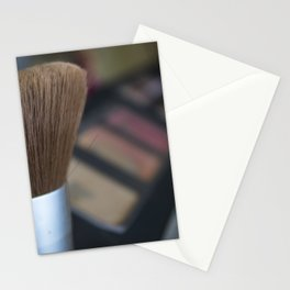make up brush Stationery Cards