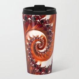 Beautiful Crimson Passion - The Heart of the Rose Fractal Travel Mug