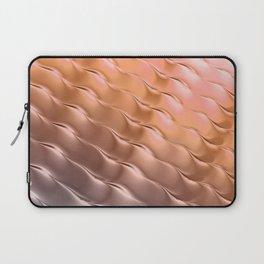 Copper satin ripple Laptop Sleeve