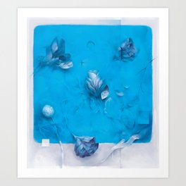 Blue Page Art Print