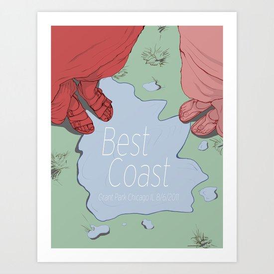 Best Coast  Art Print