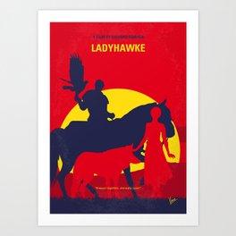 No1112 My Ladyhawke minimal movie poster Art Print