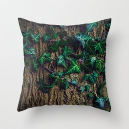 Ivy on the tree Throw Pillow