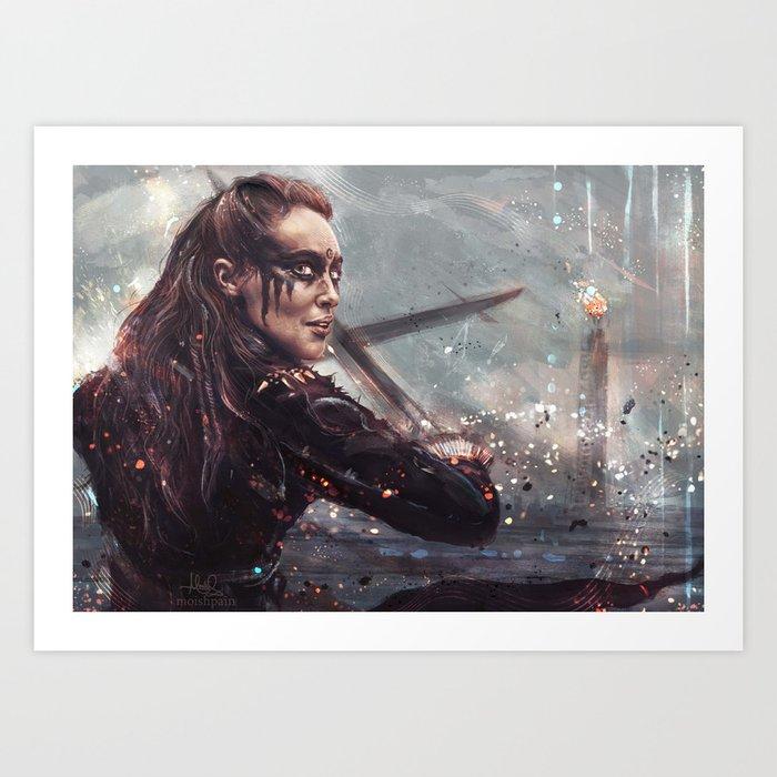 Warrior Lexa Kunstdrucke