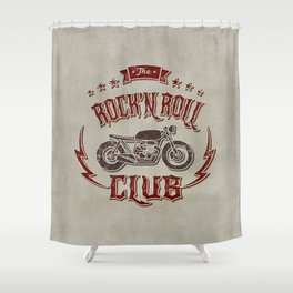 Rock 'n Roll Motorcycle Club Shower Curtain
