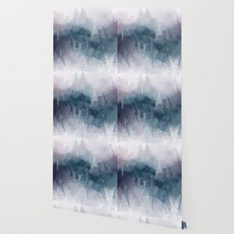 Ameythist Crystal Inspired Modern Abstract Wallpaper