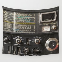 Details of an old am radio receiver Wall Tapestry