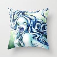 teeth Throw Pillows featuring Teeth by Savannah Horrocks