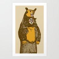 Bear Man Art Print