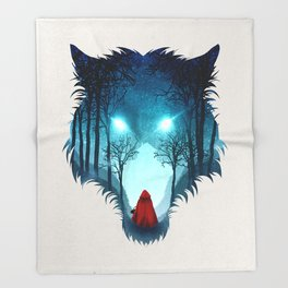 Big Bad Wolf (light version) Throw Blanket