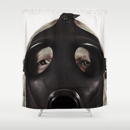 Mustard Gas Mechanic Shower Curtain