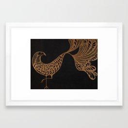 Golden Bird #1 Framed Art Print