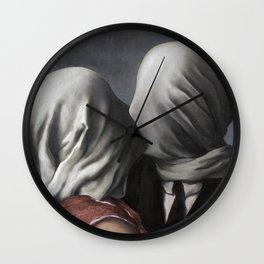 The Lovers II (Les Amants) 1928, Artwork Rene Magritte For Prints, Posters, Shirts, Bags Men Women K Wall Clock