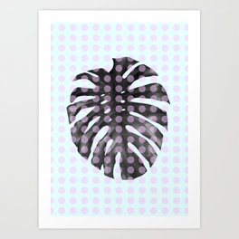 Monstera Dots Art Print