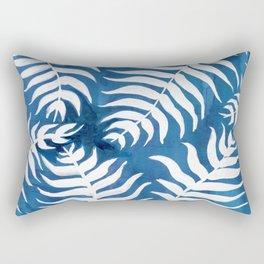 Caribean Blue Palms Rectangular Pillow