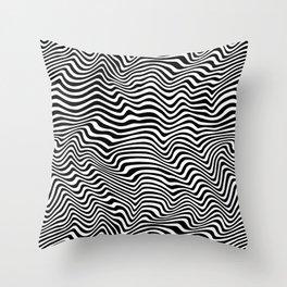 Op Art Stripes Throw Pillow