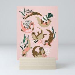 Otter Collection - Blush Palette Mini Art Print