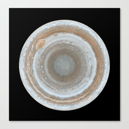 Jupiter most detailed global color map of the planet ever produced Canvas Print