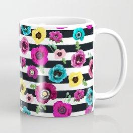 Flowers and stripes Coffee Mug