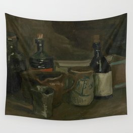 Still Life with Bottles and Earthenware Wall Tapestry