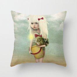 My Fishy Friend Throw Pillow
