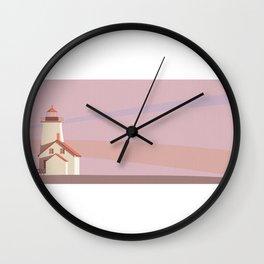Retro Lighthouse Landscape Wall Clock