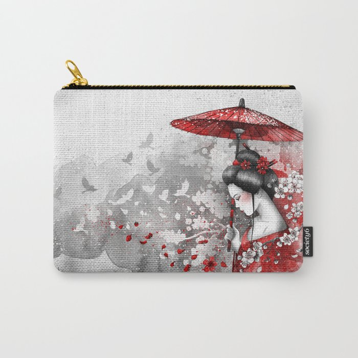 Falling blossoms Carry-All Pouch