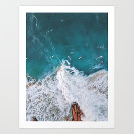 Waiting For The Surf Art Print