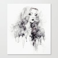 grunge Canvas Prints featuring Grunge by Sara Eshak