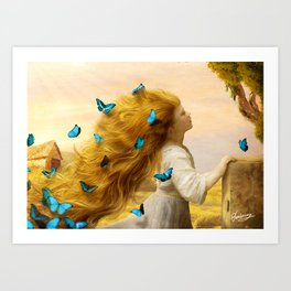 Unfurling Glory Art Print