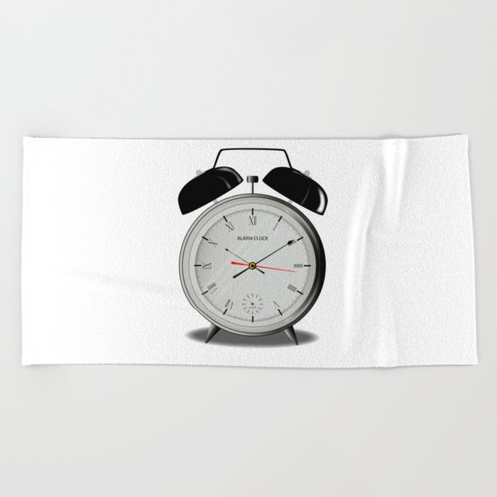 Alarm Clock Beach Towel