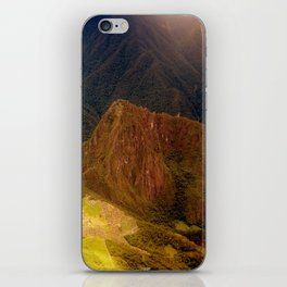 THE MACHU PICCHU VALLEY- PANORAMIC VIEW iPhone Skin