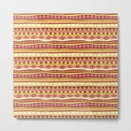 Stripey-Canyon Colors Metal Print