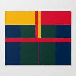 vintage, pattern, primary, colors, Canvas Print