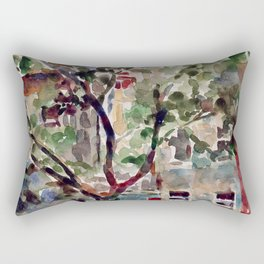 Brooklyn Brownstones Rectangular Pillow
