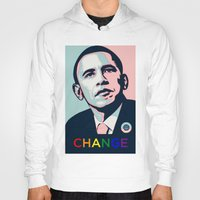 obama Hoodies featuring Obama LGBT by HUMANSFOROBAMA