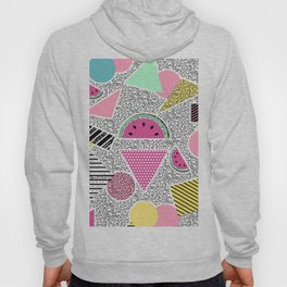 Modern geometric pattern Memphis patterns inspired Hoody