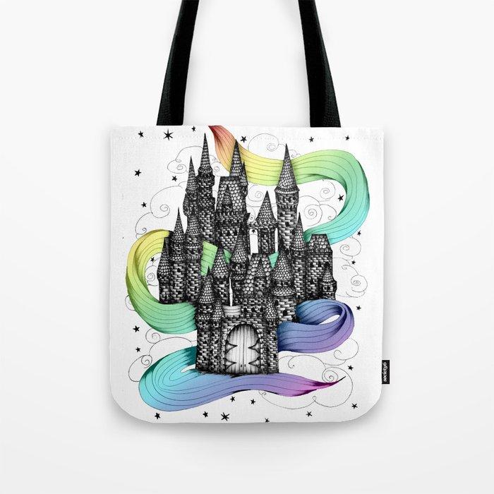 Super Magic Rainbow Dream Castle Tote Bag