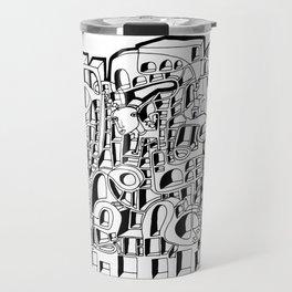 Facade (Block Letters) [Jordan E. Eismont] Travel Mug