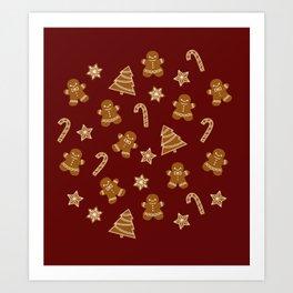 Gingerbread Art Print
