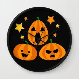 Spooky Pumpkin Wall Clock